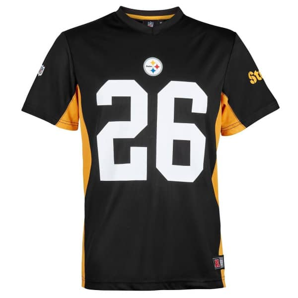 2289e69f422 Le Veon Bell  26 Pittsburgh Steelers MORO MESH Jersey NFL T-Shirt ...