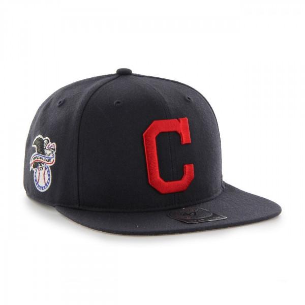 Cleveland Indians 'C' Logo Snapback MLB Cap Navy