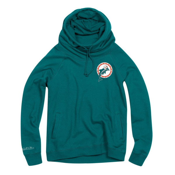 Miami Dolphins Funnel Neck Pullover NFL Hoodie (DAMEN)