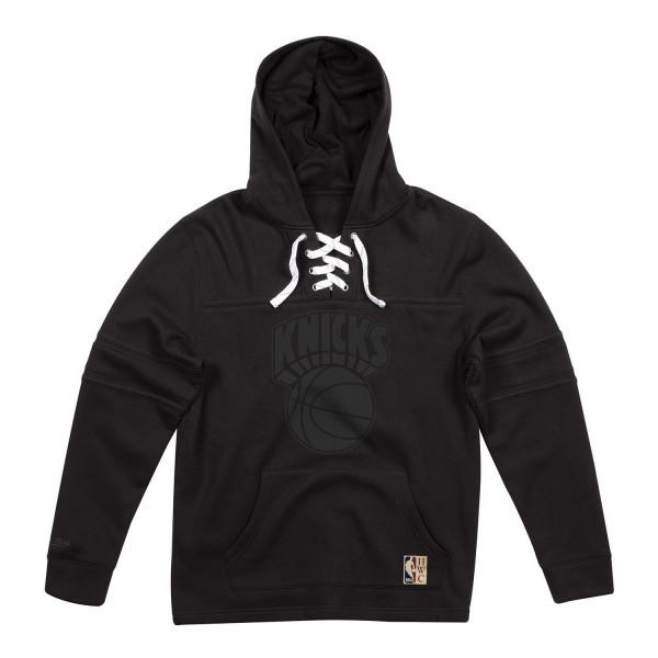 New York Knicks Black / Black Lacer Jersey Hoodie NBA Sweatshirt