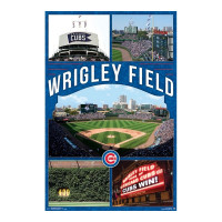Chicago Cubs Wrigley Field MLB Poster