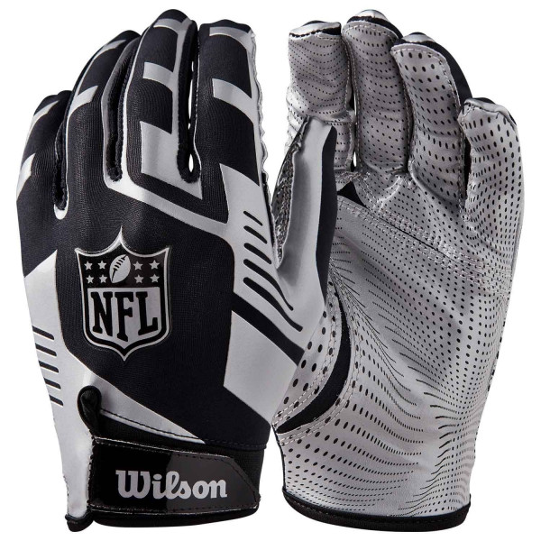 Stretch-Fit NFL Receivers Handschuhe Silber