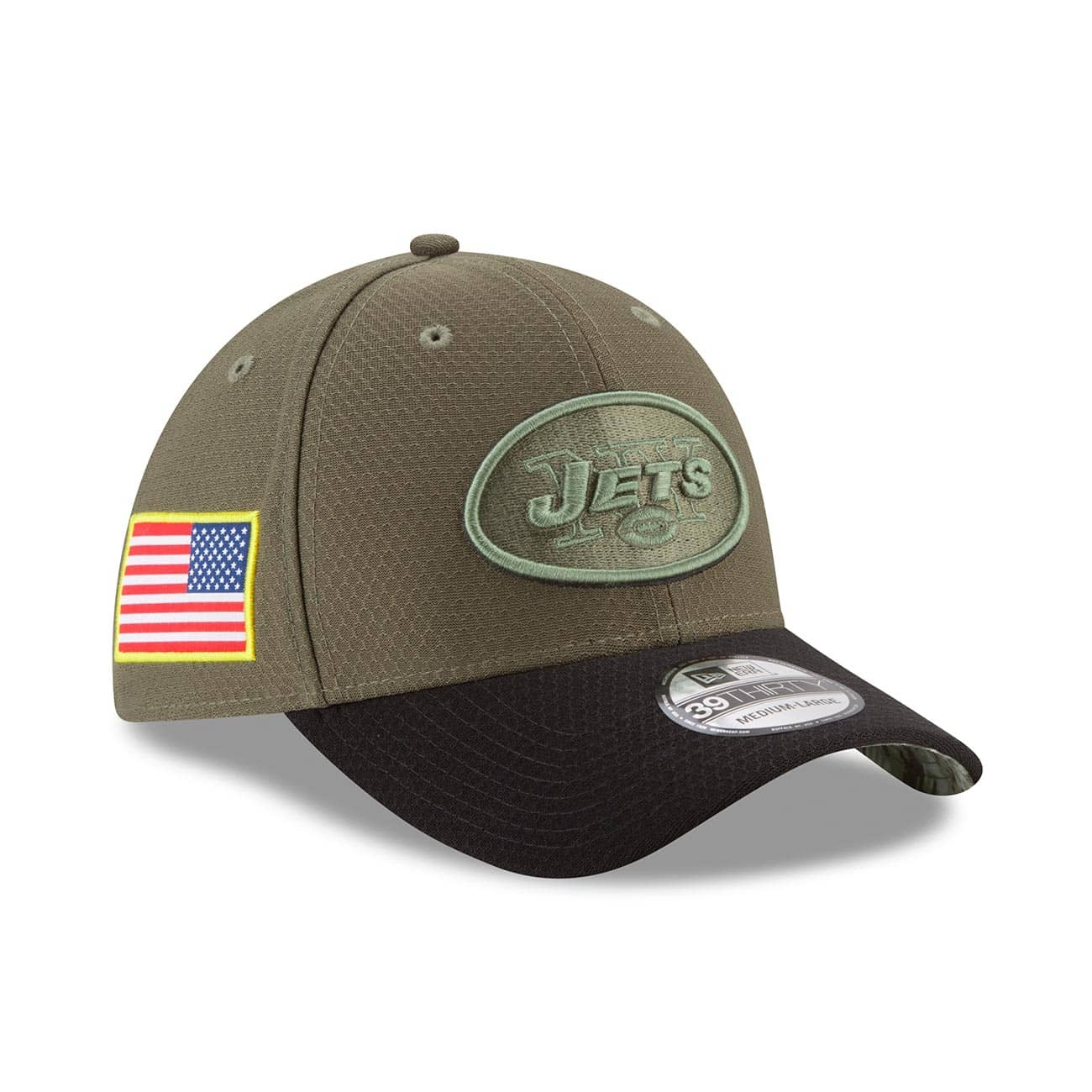 35b73cfd5 New Era New York Jets 2017 Salute to Service 39THIRTY NFL Cap ...