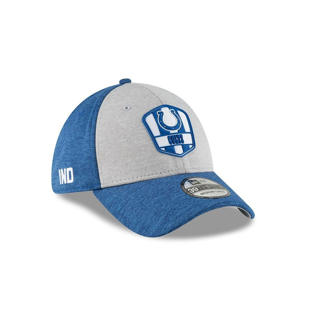 9a6df8da7 New Era Indianapolis Colts 2018 NFL Sideline 39THIRTY Flex Cap Road ...