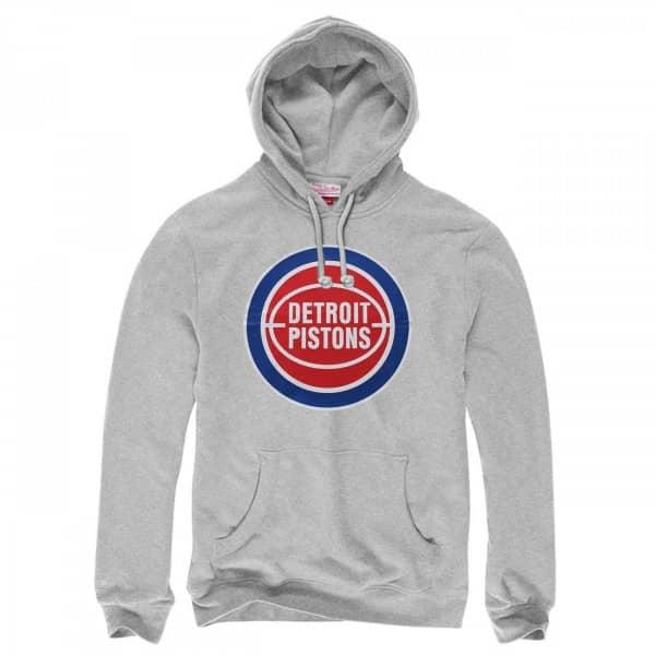 Detroit Pistons Logo NBA Sweatshirt Hoodie Grau