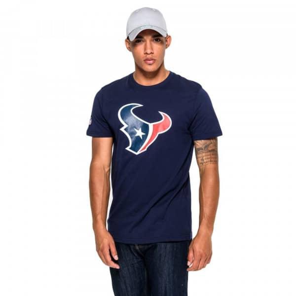 Houston Texans Team Logo New Era NFL T-Shirt Navy