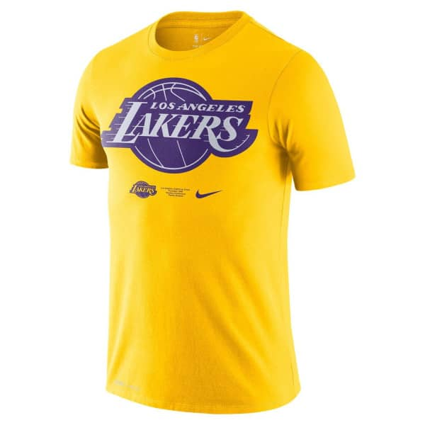 Los Angeles Lakers 2020 Bold Pride Logo Nike Dri-FIT NBA T-Shirt