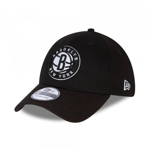 Brooklyn Nets Core New Era 39THIRTY Flex Fit NBA Cap Schwarz