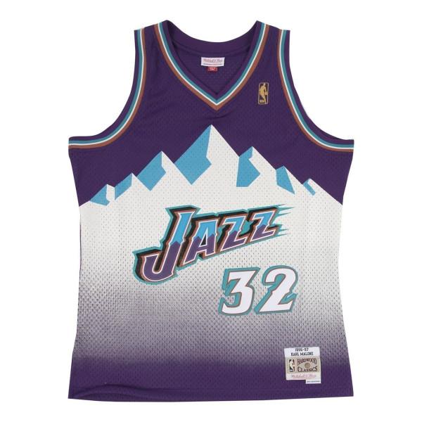 Karl Malone #32 Utah Jazz 1996-97 Swingman NBA Trikot