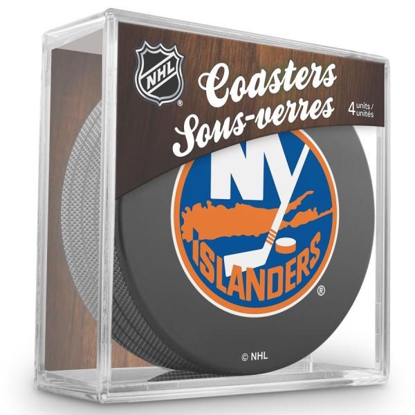 New York Islanders NHL Eishockey Puck Untersetzer (4er Set)