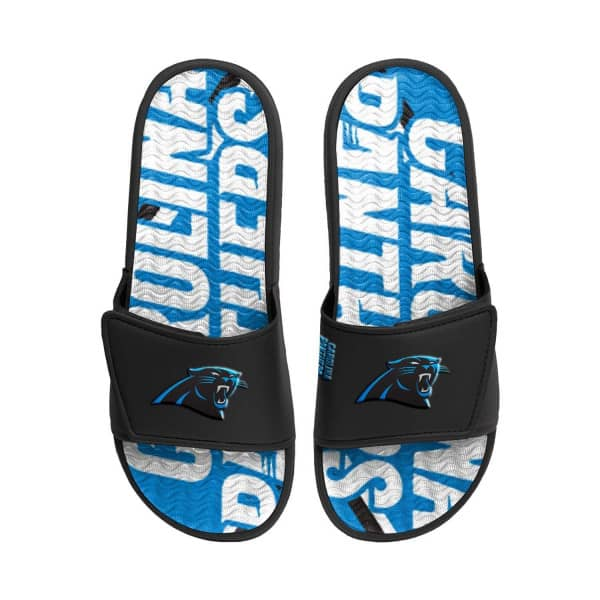 Carolina Panthers NFL Wordmark Gel Badelatschen