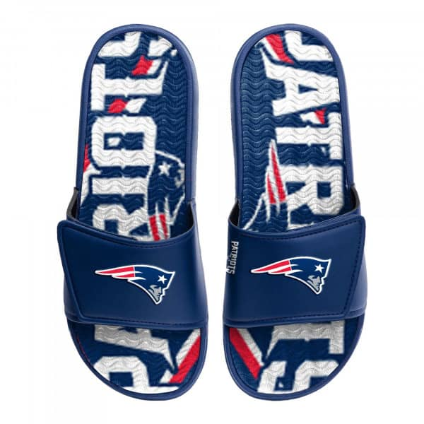 New England Patriots NFL Wordmark Gel Badelatschen