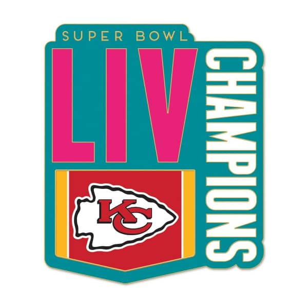 Kansas City Chiefs Super Bowl LIV Champions NFL Anstecker