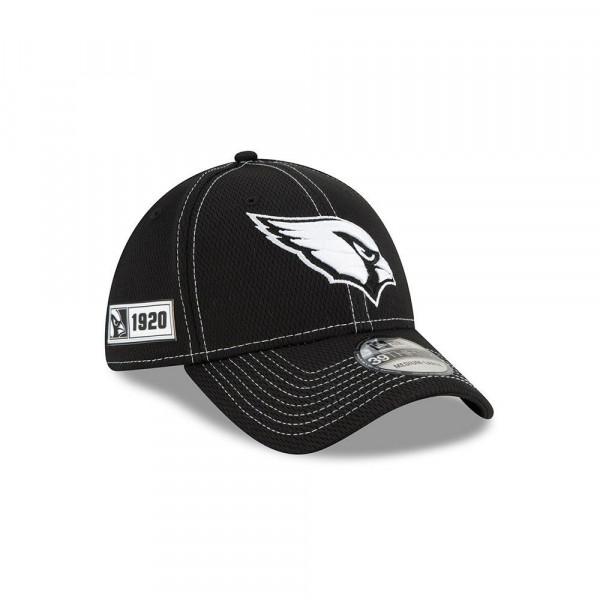 Arizona Cardinals 2019 NFL Sideline Black 39THIRTY Stretch Cap Road
