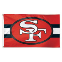 San Francisco 49ers Throwback WinCraft Deluxe NFL Hissfahne