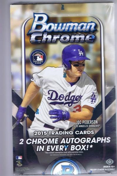 2015 Bowman Chrome Baseball Hobby Box MLB