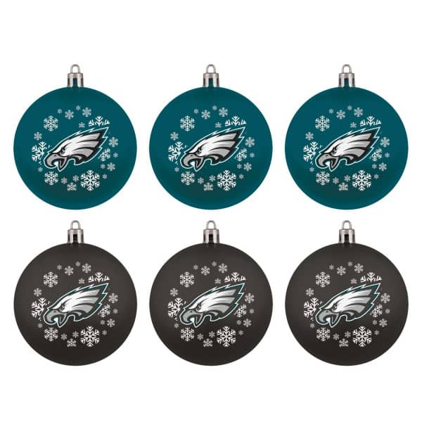 Philadelphia Eagles NFL Weihnachtskugeln Geschenk-Set (6-Teilig)