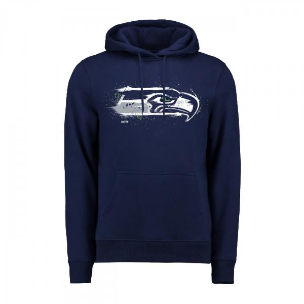 Seattle Seahawks Splatter NFL Hoodie