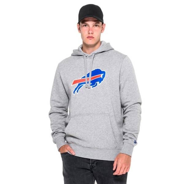Buffalo Bills Logo Hoodie NFL Sweatshirt Grau