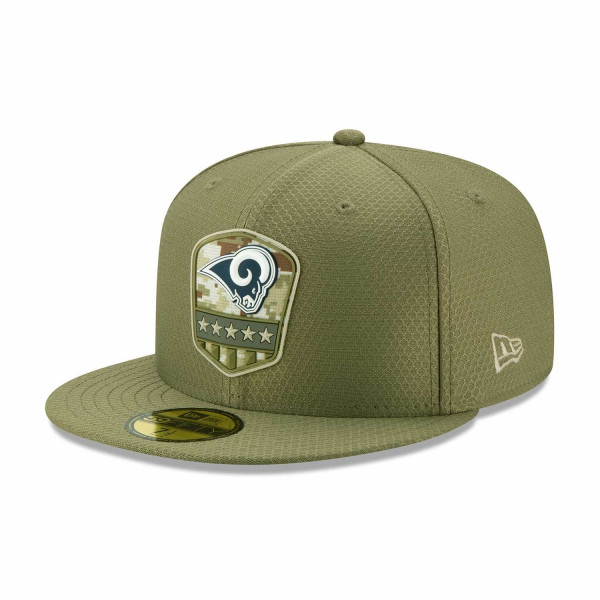 Los Angeles Rams 2019 On-Field Salute to Service 59FIFTY NFL Cap