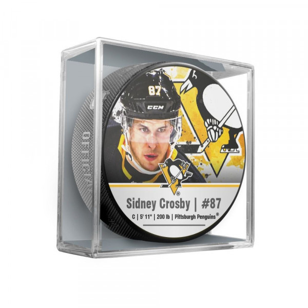 Sidney Crosby Pittsburgh Penguins Star Player NHL Puck