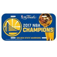 Golden State Warriors 2017 NBA Champs License Plate Schild