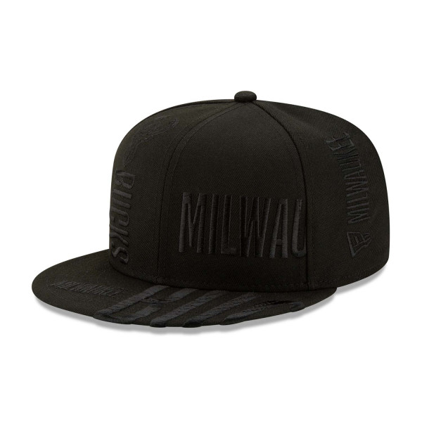 Milwaukee Bucks Black 2019-20 NBA Tip Off Series 9FIFTY Snapback Cap