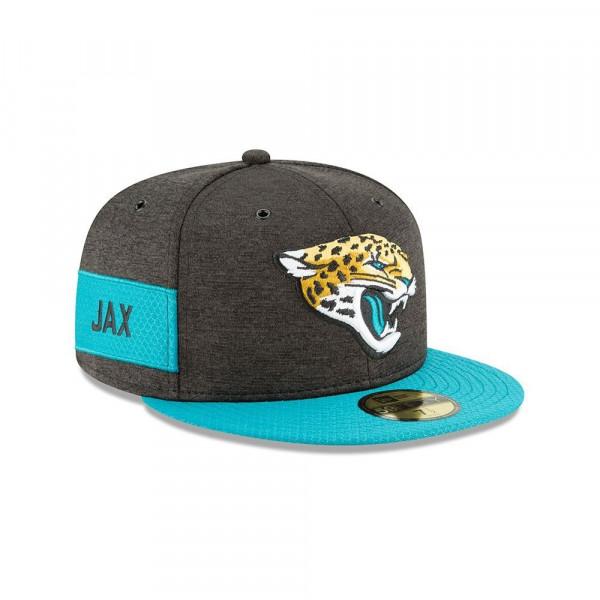 Jacksonville Jaguars 2018 NFL Sideline 59FIFTY Fitted Cap Home