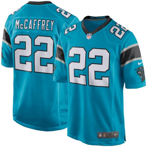 Christian McCaffrey #22 Carolina Panthers Nike Game NFL Trikot Alternate Blau