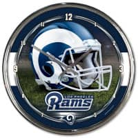 Los Angeles Rams Chrome NFL Wanduhr