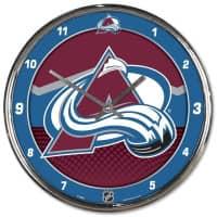 Colorado Avalanche Chrome NHL Wanduhr
