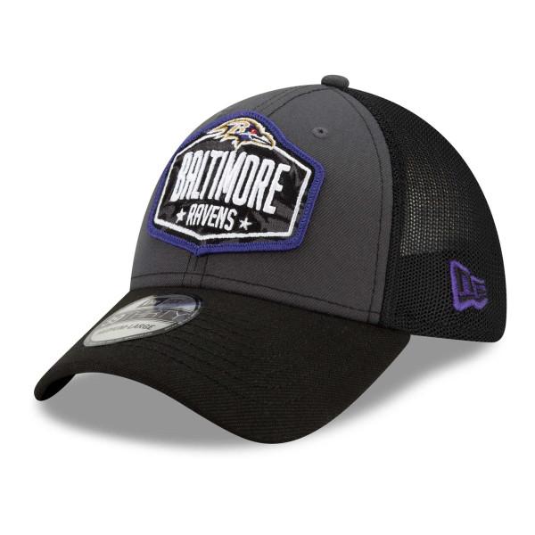 Baltimore Ravens Official 2021 NFL Draft New Era 39THIRTY Flex Fit Cap