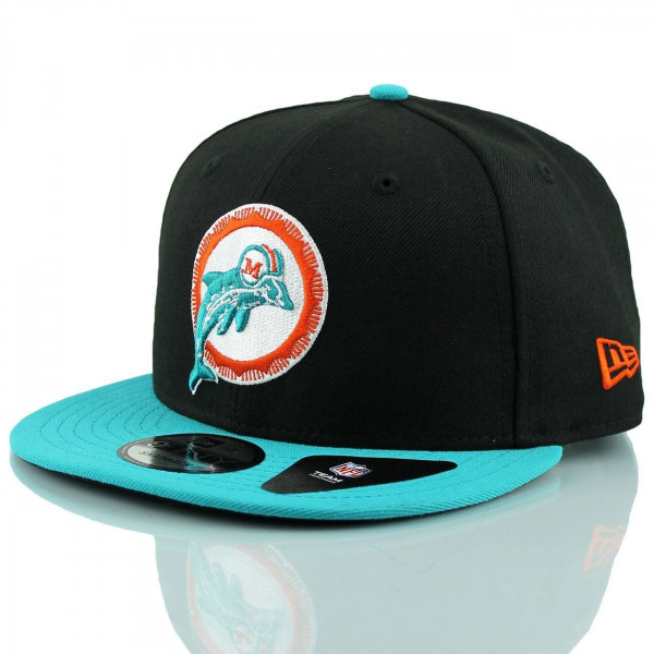 save off 4d8d7 1fc68 Miami Dolphins Throwback NFL Snapback Cap