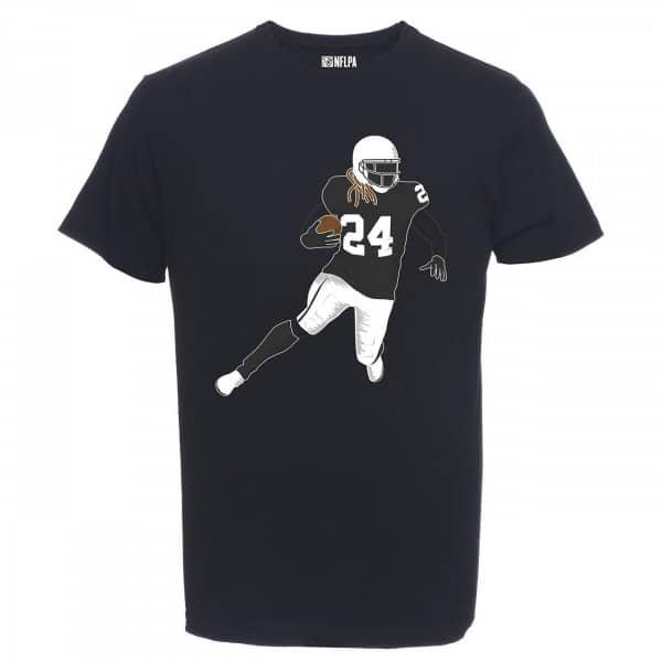 Marshawn Lynch #24 Oakland Raiders Silhouette NFL T-Shirt