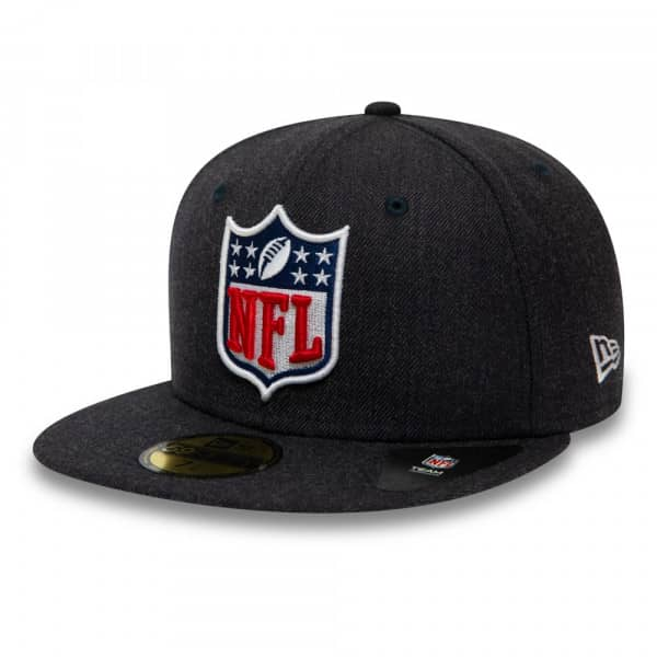 NFL Shield Heather New Era 59FIFTY Fitted NFL Cap Navy