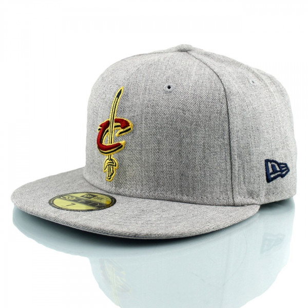 quality design 0cc7b 78c88 Cleveland Cavaliers Heather 59FIFTY Fitted NBA Cap