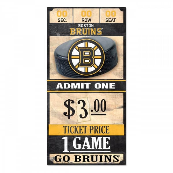 Boston Bruins NHL Ticket Schild