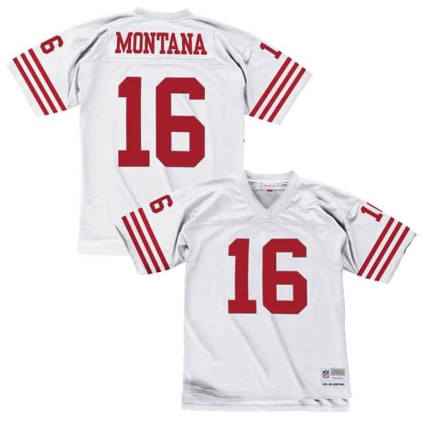 Joe Montana #16 San Francisco 49ers Legacy Throwback NFL Trikot Weiß
