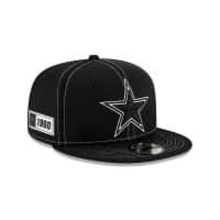 Dallas Cowboys 2019 NFL Sideline Black 9FIFTY Snapback Cap Road