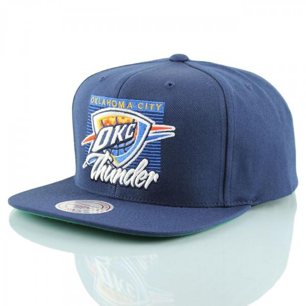 official photos 249f0 b27ee Mitchell   Ness Oklahoma City Thunder Easy 3 Digital Snapback NBA Cap Navy    TAASS.com Fan Shop
