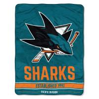 San Jose Sharks Breakaway Super Plush NHL Decke