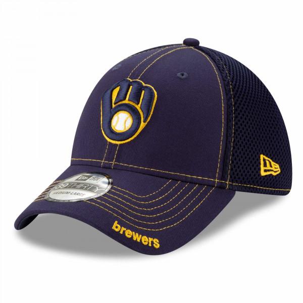 Milwaukee Brewers Team Neo New Era 39THIRTY MLB Cap
