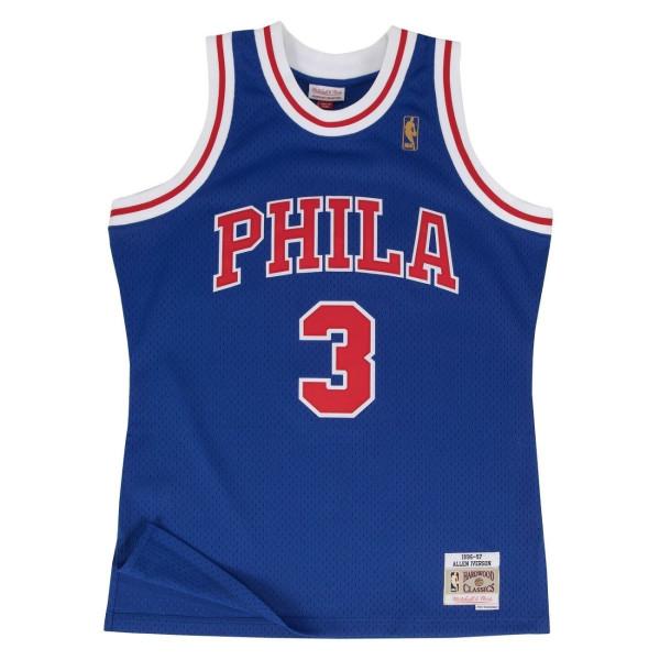 Allen Iverson #3 Philadelphia 76ers 1996-97 Swingman NBA Trikot Blau