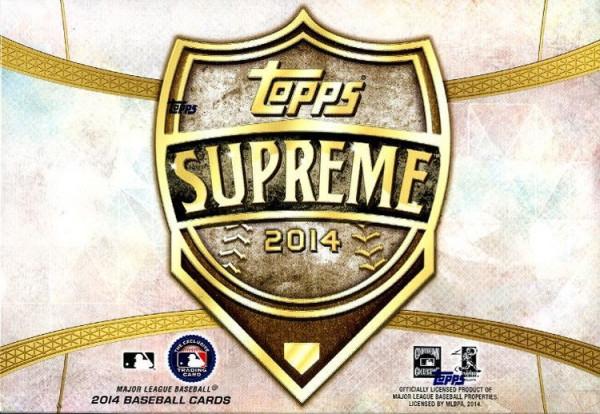 2014 Topps Supreme Baseball Hobby Box MLB