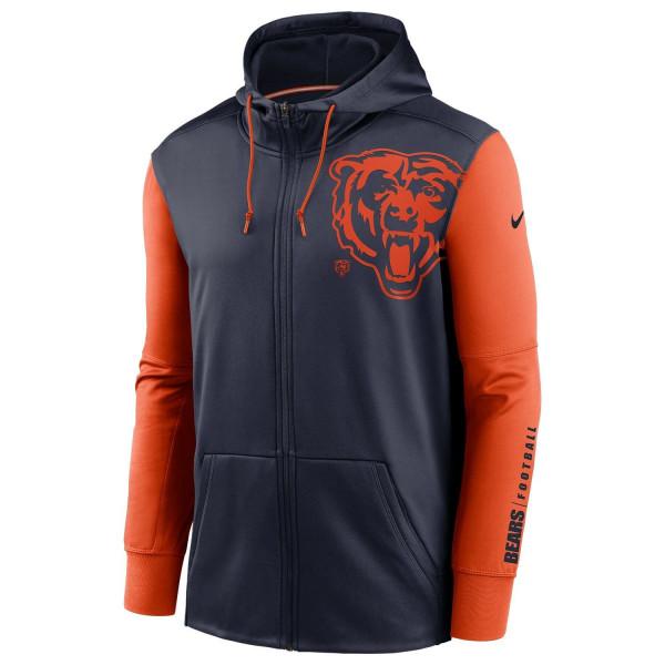 Chicago Bears 2020 NFL Big Logo Nike Therma Full-Zip Hoodie