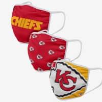 Kansas City Chiefs NFL Face Mask Mundschutz MNS (3er-Pack)