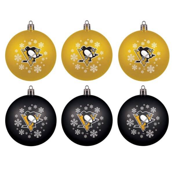 Pittsburgh Penguins NHL Weihnachtskugeln Geschenk-Set (6-Teilig)