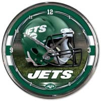New York Jets Chrome NFL Wanduhr