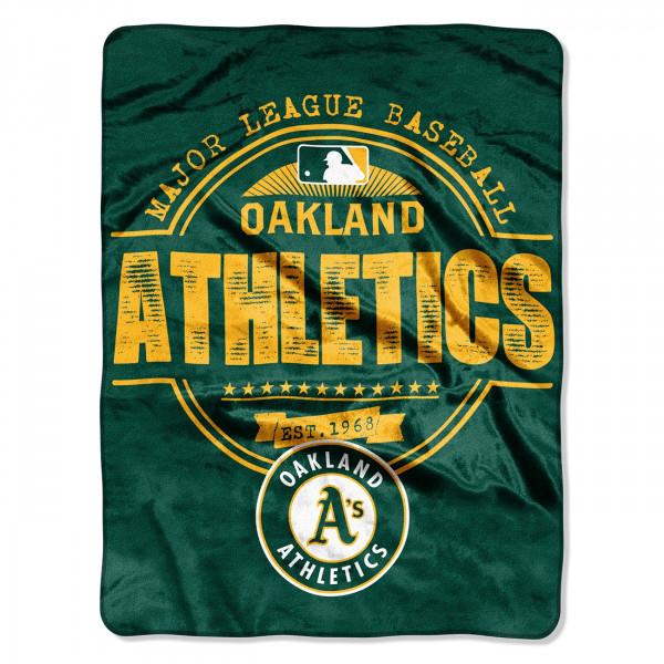 Oakland Athletics Super Plush MLB Decke