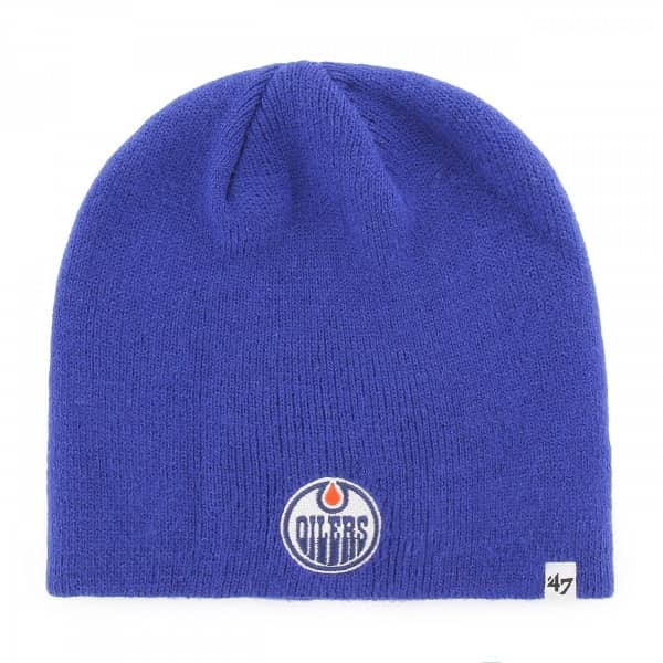 8bc1d1740a2  47 Brand Edmonton Oilers Beanie NHL Knit Hat Blue